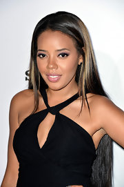 Angela Simmons rocked a sleek straight 'do while at the Maxim Hot 100 party in Hollywood.