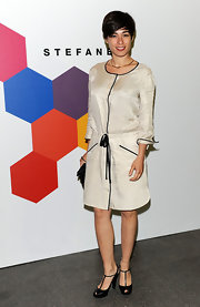 This silk dress was effortlessly classy on Diane Fieri.