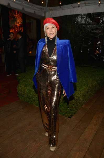 Maye Musk Jumpsuit [gq men of the year party,clothing,fashion,outerwear,costume,fashion design,electric blue,residence,beverly hills,california,maye musk]