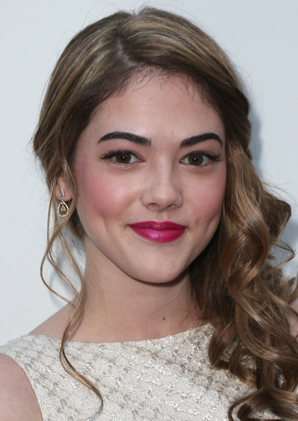McKaley Miller Side Swept Curls