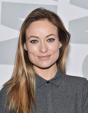 Olivia Wilde left her hair unstyled when she attended the 'Meadowland' New York screening and Q&A.