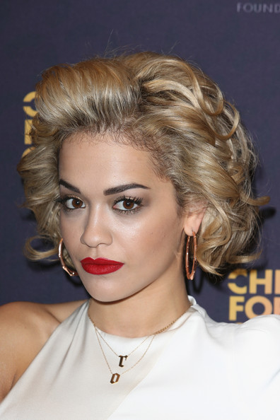 More Pics of Rita Ora Short Curls (1 of 6) - Short Curls Lookbook - StyleBistro
