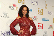 Megan Gale Lace Dress