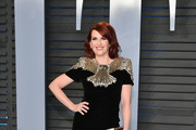 Megan Mullally Metallic Clutch