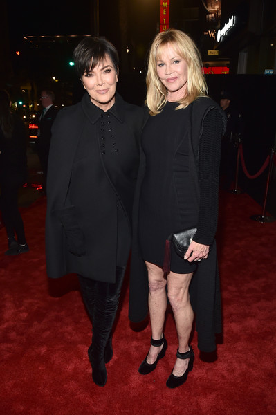 Melanie Griffith Cardigan [the disaster artist,little black dress,event,suit,fashion,dress,carpet,premiere,formal wear,flooring,outerwear,melanie griffith,kris jenner,tcl chinese theatre,hollywood,afi fest,red carpet,l,screening,audi - screening]