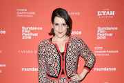 Melanie Lynskey Lace Up Boots