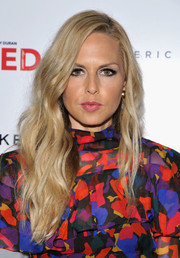 Rachel Zoe switched up her style just a little bit for Brian Atwood's celebration of PUMPED, wearing her long blonde waves with a side part instead of her signature center.