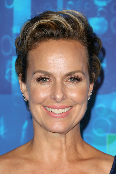 Melora Hardin Fauxhawk [hair,face,eyebrow,hairstyle,forehead,chin,head,nose,skin,blond,arrivals,melora hardin,emmy,post emmy awards,the plaza,california,los angeles,pacific design center,hbo,reception]