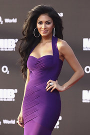 Nicole Scherzinger arrived at the German premiere of 'Men in Black 3' wearing a pair of 18-carat white gold and diamond hoop earrings.