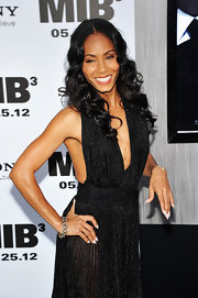 Jada Pinkett Smith added a couple coats of crisp white nail lacquer to her look for the NYC premiere if 'Men in Black 3.'