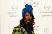 Model Iman at Mercedes-Benz Fashion Week Fall 2011 at Lincoln Center on February 14, 2011 in New York City.