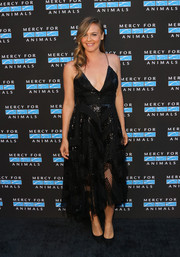 Alicia Silverstone was sexy and elegant in a Christian Siriano LBD with sequin and lace panels at the Hidden Heroes Gala.