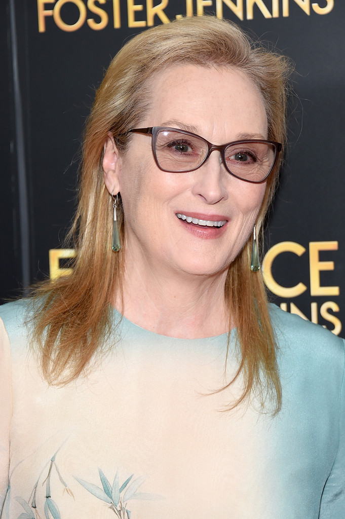 Meryl Streep Medium Straight Cut Meryl Streep Looks