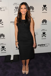 Brenda Song wore a sweet LBD for the MetroPCS launch.