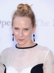Amy Ryan's top knot was a fun finish to her look during the 'Eugene Onegin' opening.