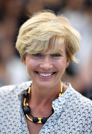 Emma Thompson rocked emo bangs at the Cannes Film Festival photocall for 'The Meyerowitz Stories.'
