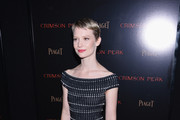 Mia Wasikowska Off-the-Shoulder Dress