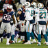Stevan Ridley #22 of the New England Patriots signals a first down after running with the ball against the Miami Dolphins during the game at Gillette Stadium on December 30, 2012 in Foxboro, Massachusetts.