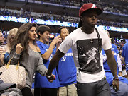 Lil Wayne hit up the NBA Finals Game 5 in a graphic white tee and jeans.