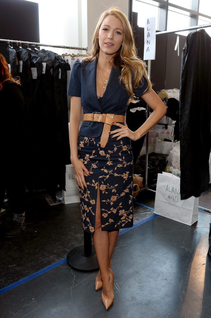 Blake Lively At Michael Kors Front Row Celebrity Style At Nyfw Fall 2014 Stylebistro