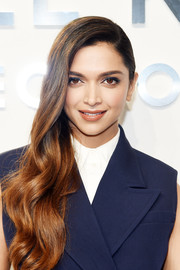 Deepika Padukone looked totally red carpet-ready with her side-swept waves at the Michael Kors fashion show.