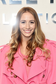 Harley Viera-Newton sported a sweet curly hairstyle at the Michael Kors fashion show.