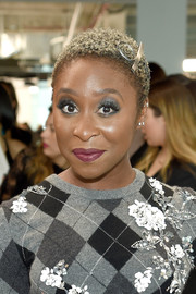 Cynthia Erivo attended the Michael Kors Spring 2019 show wearing her natural curls.