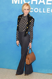 Judith Light attended the Michael Kors Spring 2019 show wearing a classic polka-dot blouse from the label.