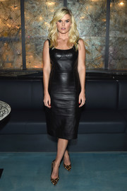 Alice Eve styled her LBD with a pair of leopard-print pumps.