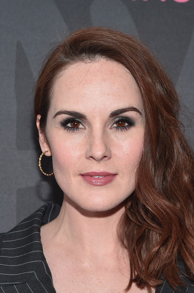 Michelle Dockery Side Sweep [good behavior,hair,face,eyebrow,hairstyle,lip,chin,beauty,cheek,brown hair,forehead,michelle dockery,roxy hotel,new york city,nyc premiere]