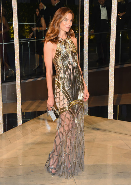 Michelle Monaghan Box Clutch [fashion model,fashion,clothing,fashion show,haute couture,fashion design,dress,long hair,runway,event,michelle monaghan,cocktails,alice tully hall,new york city,lincoln center,cfda fashion awards]