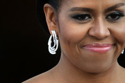 Michelle Obama Diamond Hoops