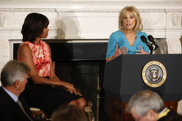 Michelle Obama Jill Biden National Governors Association Holds Meeting At White House