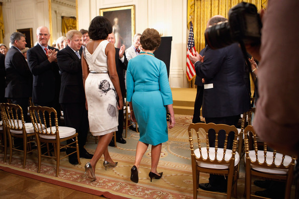 George W. Bush And Laura Bush Attend White House Unveiling Of Their Portraits