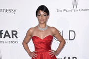 Michelle Rodriguez Strapless Dress