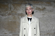 Michelle Williams Leather Coat