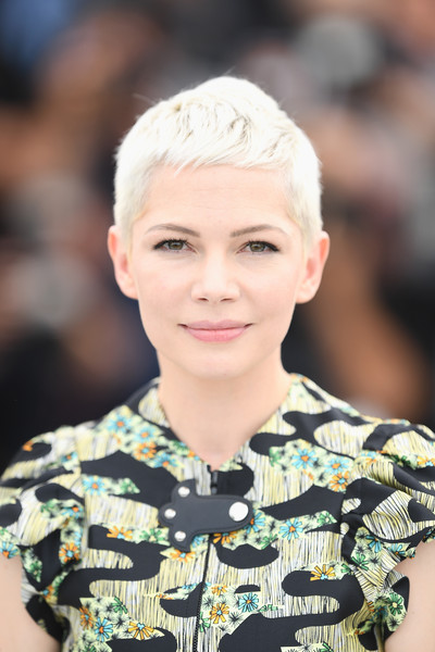 Michelle Williams Pixie [wonderstruck photocall - the 70th annual cannes film festival,hair,face,fashion,hairstyle,eyebrow,beauty,lip,head,chin,blond,michelle williams,cannes,france,cannes film festival,palais des festivals]