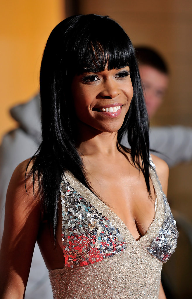 Michelle Williams (singer) Long Straight Cut with Bangs ...