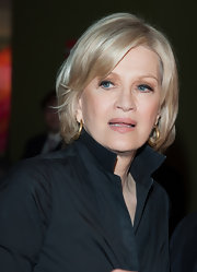 Diane Sawyer wore her blonde hair in a glossy bob for the Mike Wallace Memorial.
