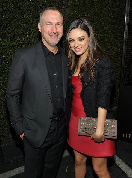Mila Kunis Beaded Clutch