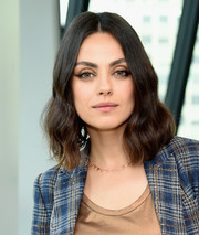 Mila Kunis looked lovely with her face-framing waves at the screening of 'The Spy Who Dumped Me.'