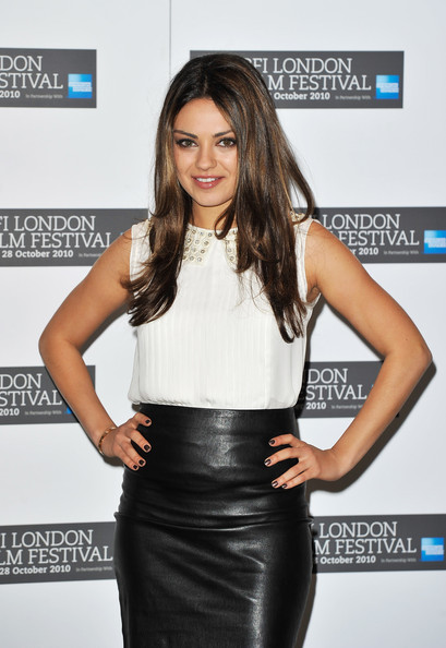 Mila Kunis Embellished Top
