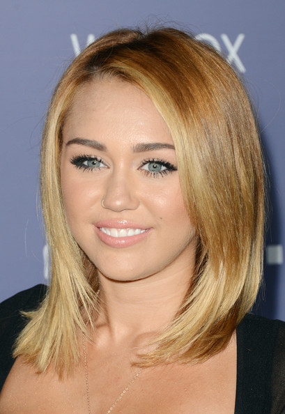 more pics of miley cyrus medium straight cut 2 of 51