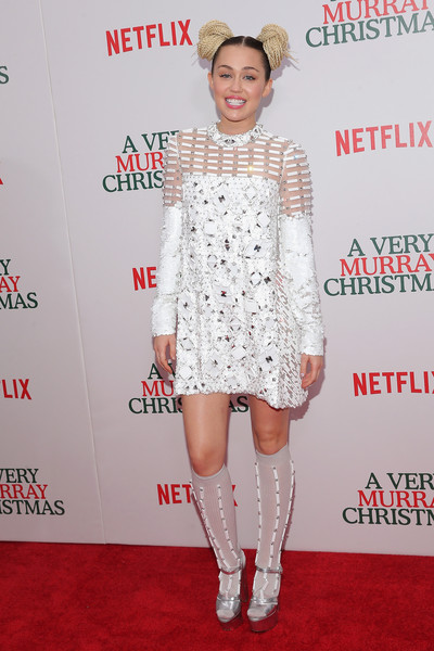 Miley Cyrus Beaded Dress