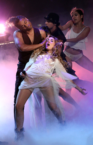 Miley Cyrus Sheer Dress [miley cyrus,wetten dass,wetten,performance,performing arts,dancer,entertainment,dance,event,performance art,modern dance,fun,stage,hanover,germany,tui arena]