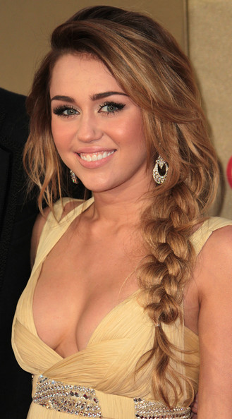 Miley Cyrus Long Braided Hairstyle