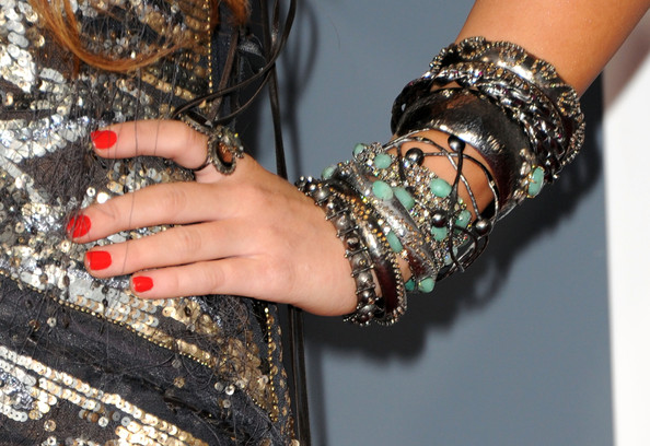 Miley Cyrus Red Nail Polish