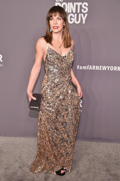 Milla Jovovich Metallic Clutch