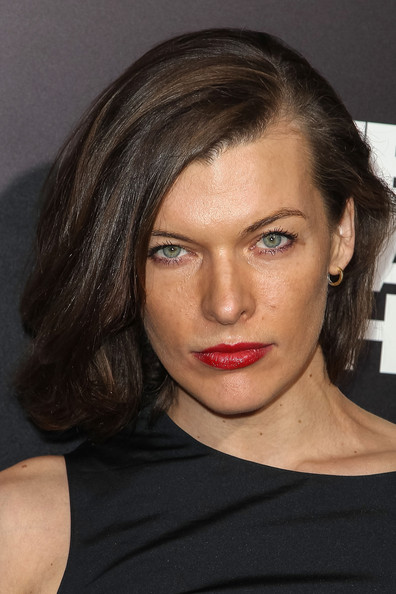Milla Jovovich Bob [zero dark thirty,hair,face,hairstyle,eyebrow,lip,chin,shoulder,cheek,beauty,skin,arrivals,milla jovovich,california,hollywood,dolby theatre,columbia pictures,premiere,premiere]
