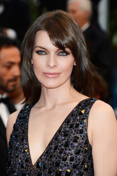 Milla Jovovich Medium Straight Cut with Bangs